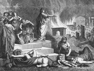 Nero Fiddling While Rome Burns